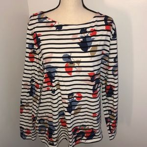Boden striped floral long sleeve tee US size 18